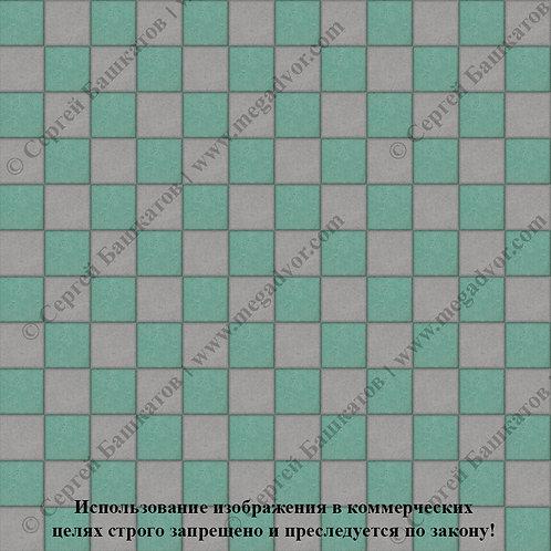 Квадрат 100х100 Шахматы (серый, зелёный)