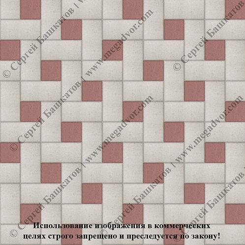 Кирпичик Вставка (белый, красный)