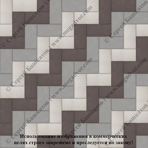 Кирпичик Максимум (серый, коричневый, белый)