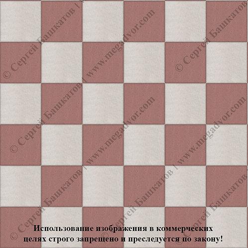 Квадрат 200*200 Шахматы (белый, красный)
