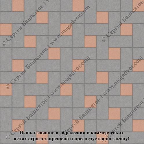 Кирпичик Вставка (серый, оранжевый)