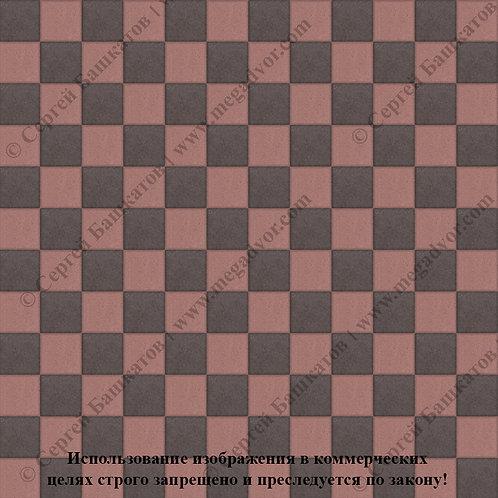 Квадрат 100х100 Шахматы (коричневый, красный)