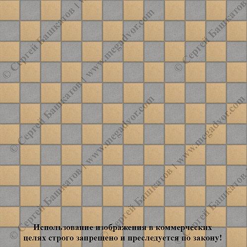 Квадрат 100х100 Шахматы (серый, жёлтый)