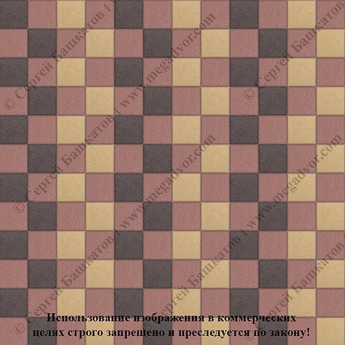 Квадрат 100х100 Стандарт (красный, коричневый, жёлтый)
