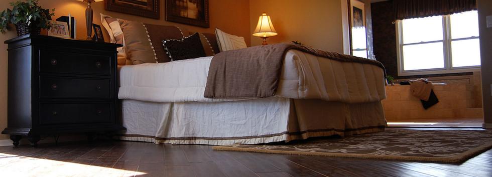Luxury Bedroom with Hardwood Floors