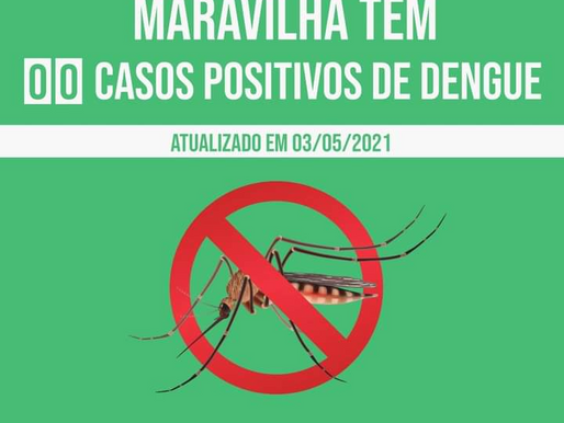 Maravilha não tem casos de dengue ativos
