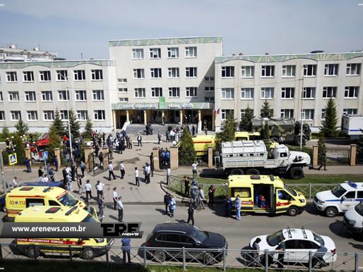 Alunos e professor são mortos em ataque a tiros em escola na Rússia