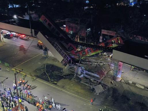 Trem cai na Cidade do México e deixa mortos e feridos