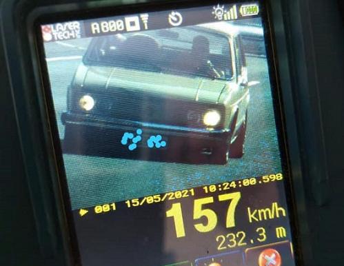 Brasília é flagrada a 157 km/h em estrada do Rio Grande do Sul