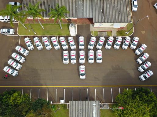 Polícia Militar de Fronteira recebe 27 novas viaturas em SMO
