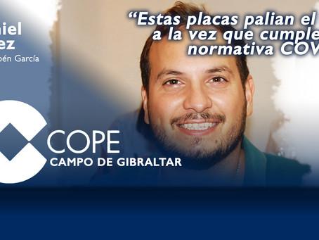 """Daniel Pérez: """"Estas placas palian el frío a la vez que cumplen la normativa COVID"""""""