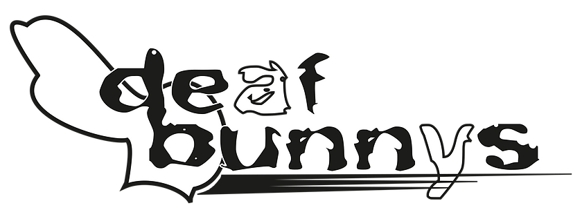 DeafBunnysBand Wordmark Red-background.p