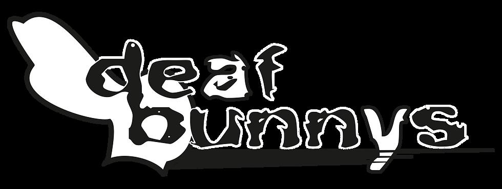 DeafBunnysBand Wordmark Red-background.p