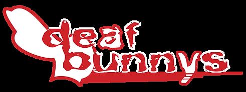 DeafBunnysBand Wordmark Black-background