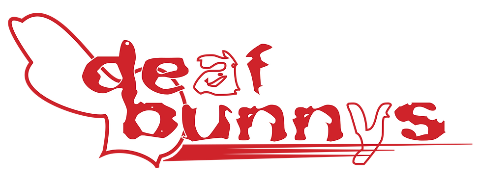 DeafBunnysBand Wordmark Black-background