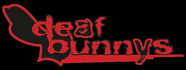 DeafBunnysBand Wordmark White-background