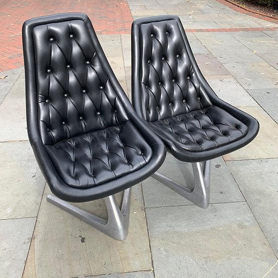 Sculpta Chromantic Black Vinyl Chair