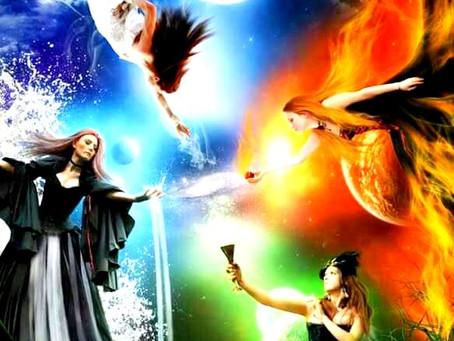 A Magia Luminar e os 4 elementos