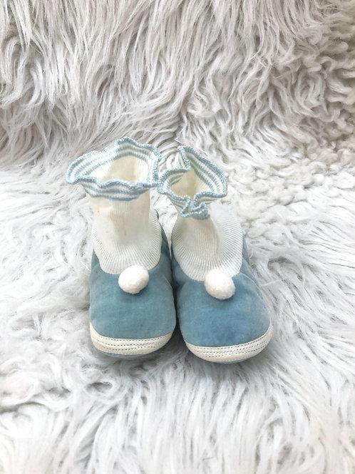 Vintage Dark Blue Crib Shoes| Size 1