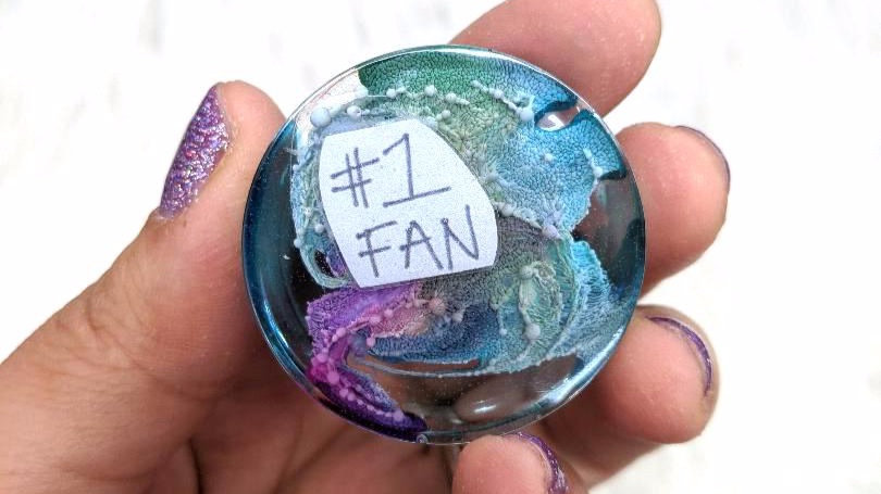 '#1 Fan'| Magnetic Resin Piece