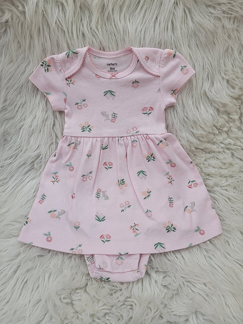 'Carters' *bunnies and flowers* Dress| 9 months