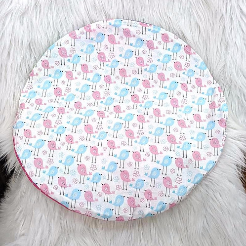 'Pink & Blue Birds' 'Patch Quilt'| Handmade| CAR STEERING WHEEL cover