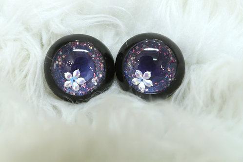 Purple Glitter w/Flower Yoda Resin Eyes