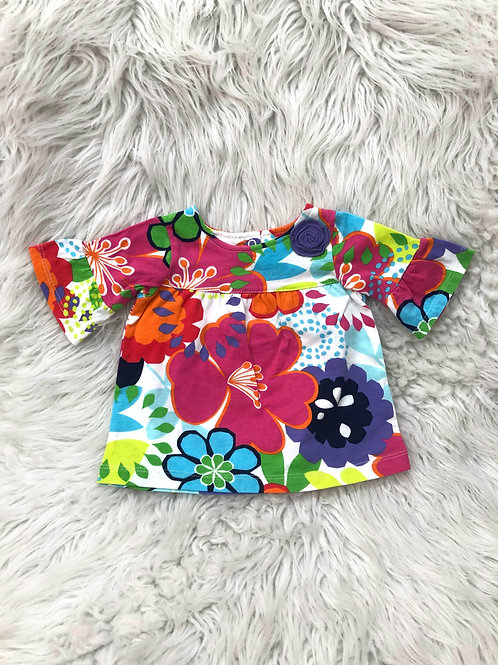 'Carters' Bright Floral Top| 6 MONTHS