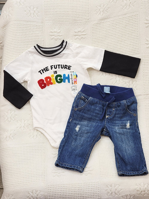 3-6 MONTHS  'Garanimals' Top NWT & 'Baby Gap' Jeans