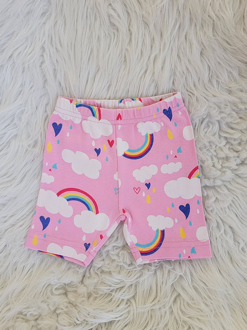 'Gymboree' *rainbows & hearts* Shorts   6-12 MONTHS