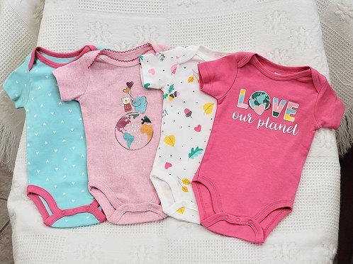 0-3 MONTHS  'Koala Baby' 💗Love our Planet 🌏 4pc Onesie Set NWT