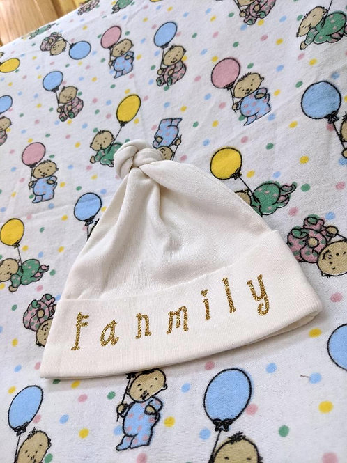 'Fanmily' Hat| Customized| 6-12 MONTHS
