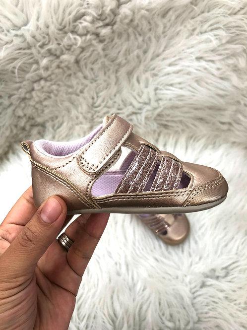 'Surprize' Rose Gold Shoes| 12-18 MONTHS