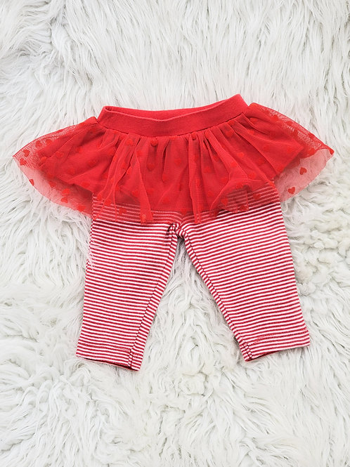 'Carters' Pants with Heart Tutu| 3 MONTHS