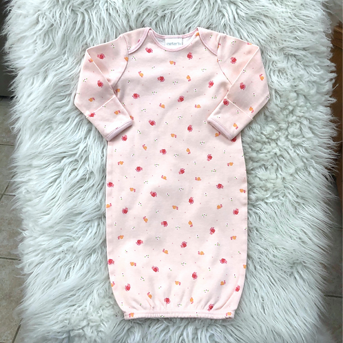 VINTAGE 'Carters' Pink Snail Gown| 0-3 MONTHS
