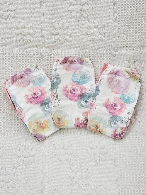 NB  Honest Diapers *floral* Set of 3