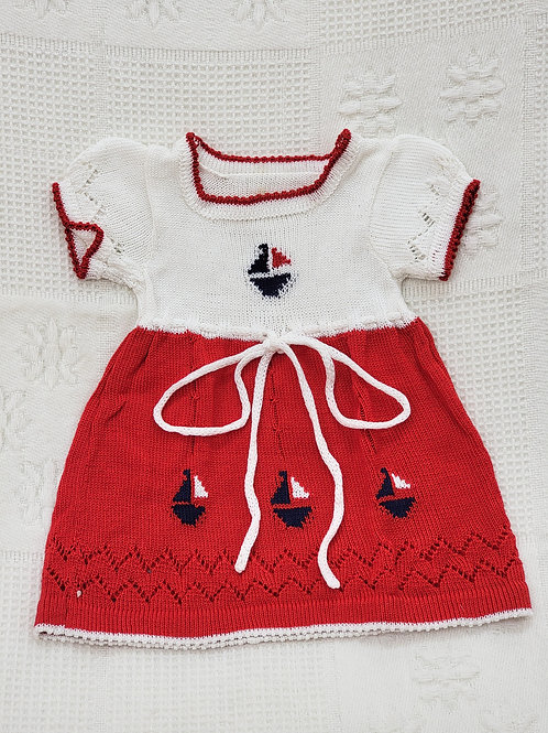 0-3 MONTHS  VINTAGE Knitted Dress ⛵