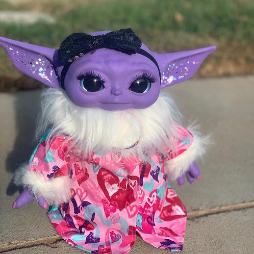 'Purple Glam Yoda'| by tea.artistry