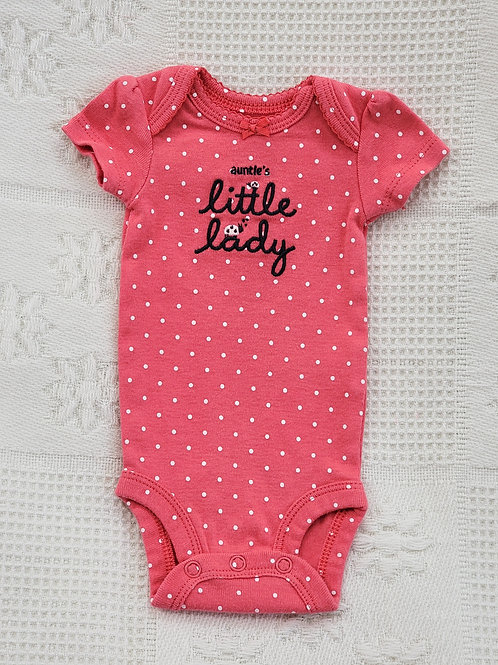 'Carters' *auntie's little lady* Onesie  PREEMIE