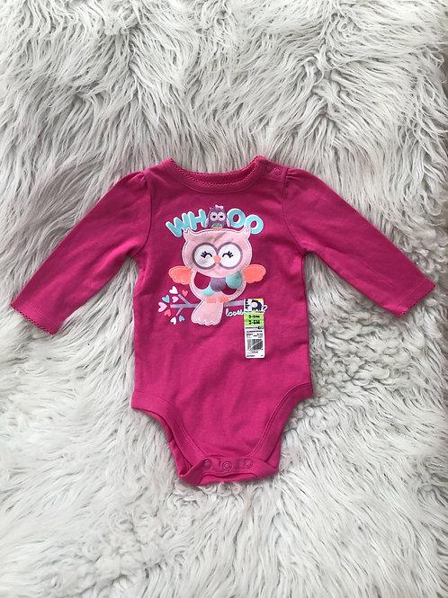 'Garanimals' *Owl* Hot Pink Onesie NWT | 3-6 MONTHS