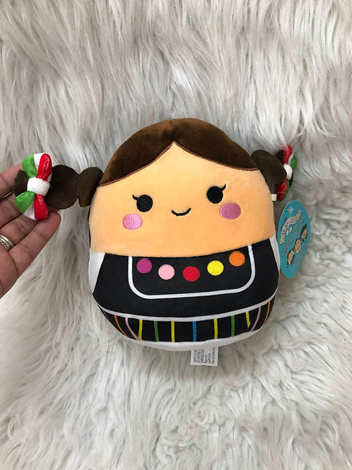 Squishmallows *Mexican Girl* NWT  8 inches tall