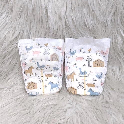 'Farm Life' Diapers (Size NB)