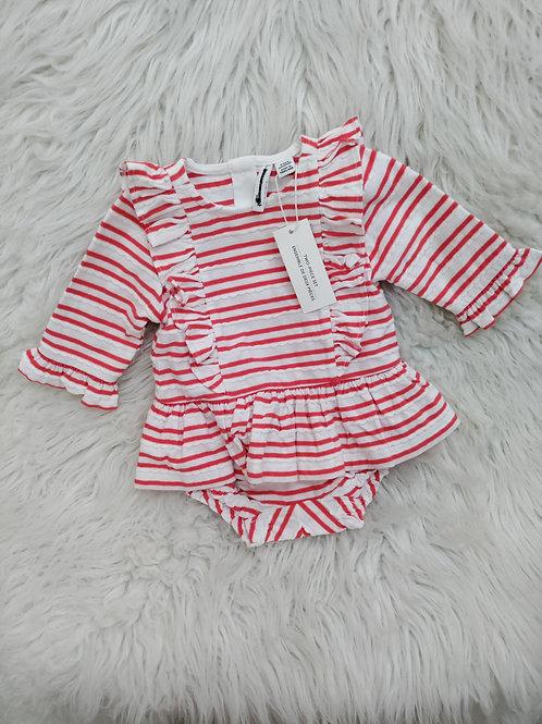 Stripped Dress Set (3-6 months)