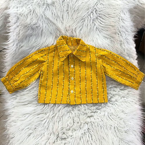 VINTAGE *Homemade* Button-Up Top  2T