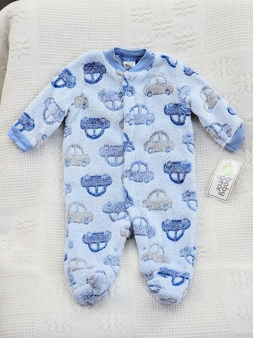 0-3 MONTHS  'Baby Gear' *cars* Fleece Sleeper NWT