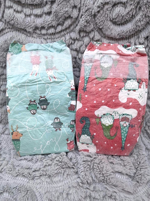 Holiday Diapers (Set of 2)  HONEST  Size 1
