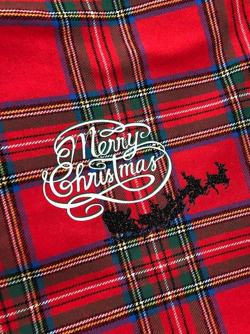 'Vintage Christmas Sleigh'  Customized Carseat Blanket