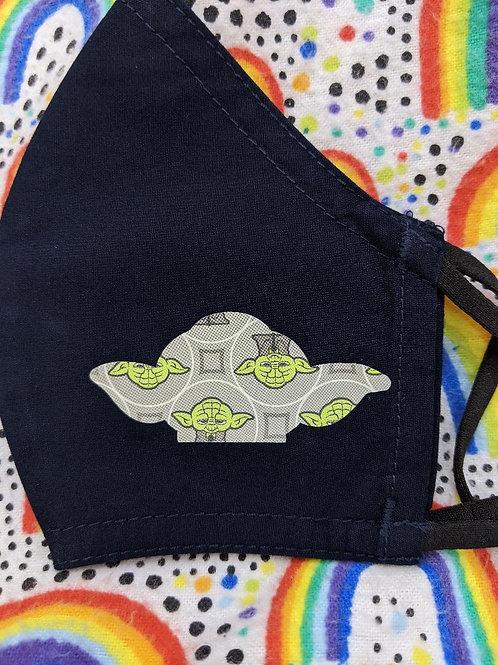 'Yoda Head & Print'  Customized Face Mask  KIDS