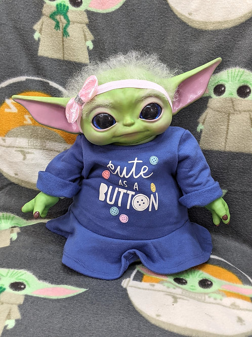 Realistic Baby Yoda with Rooted Hair
