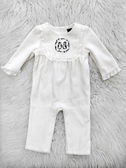 Penguin Janie and Jack Romper  (3-6 months)